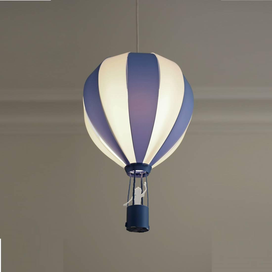 montgolfiere suspension enfant bleu polypropylene 30cm. Black Bedroom Furniture Sets. Home Design Ideas