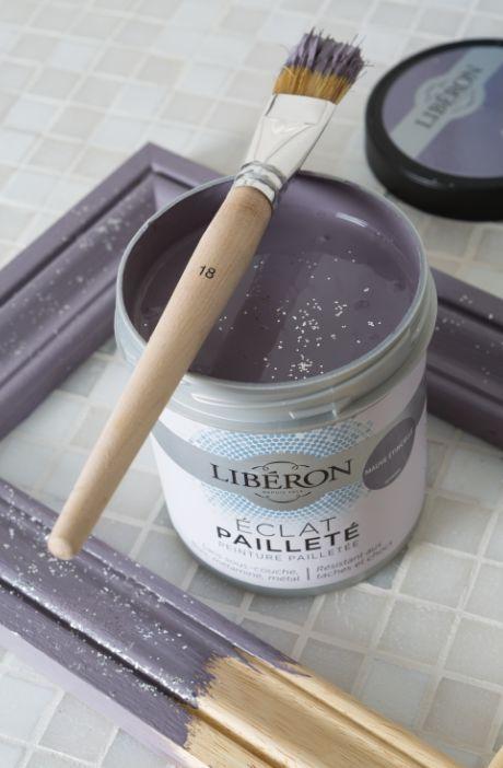 l 39 clat paillet peinture effets pour meuble violet. Black Bedroom Furniture Sets. Home Design Ideas