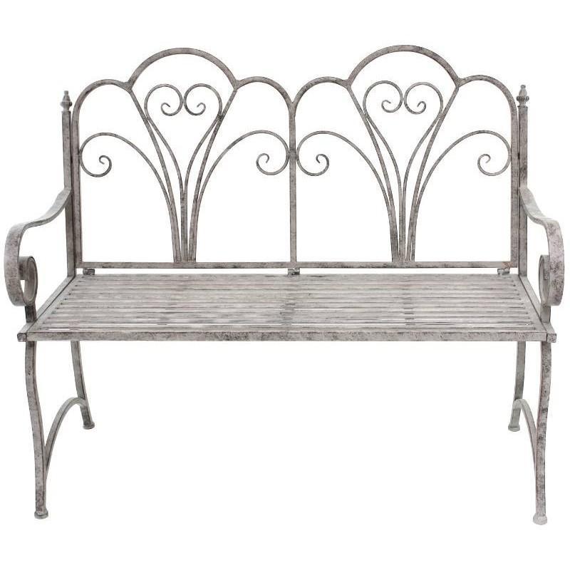 banc fauteuil de jardin pliable en fer 110 cm banc de jardin. Black Bedroom Furniture Sets. Home Design Ideas