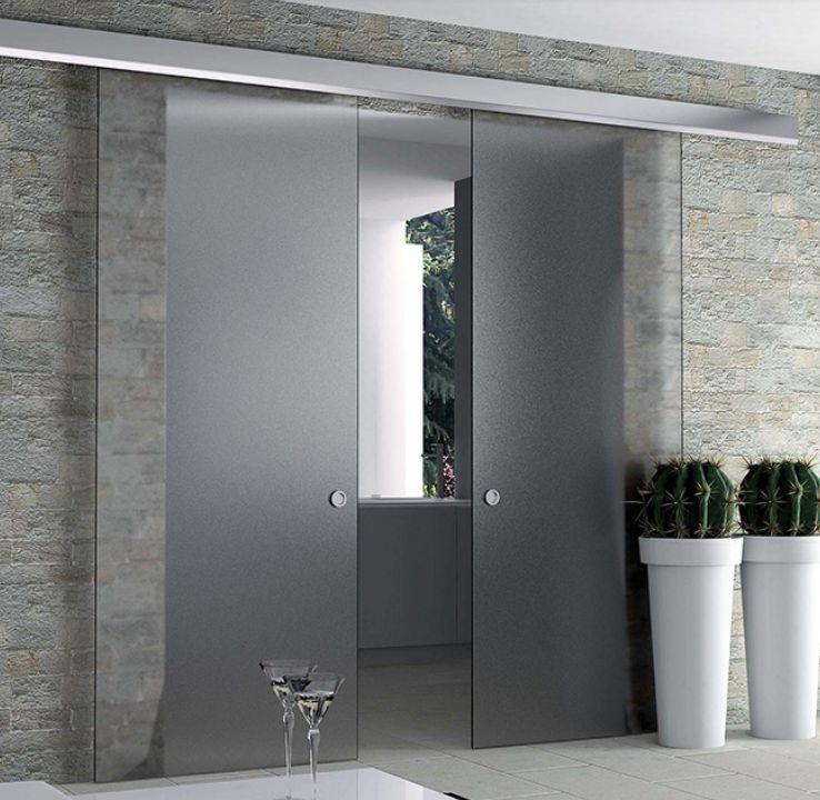 railk751 rail de porte coulissante argente eclisse. Black Bedroom Furniture Sets. Home Design Ideas