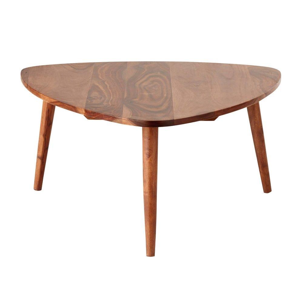 table basse vintage en sheesham massif andersentable basse triangulaire 80x36x75cm maisons
