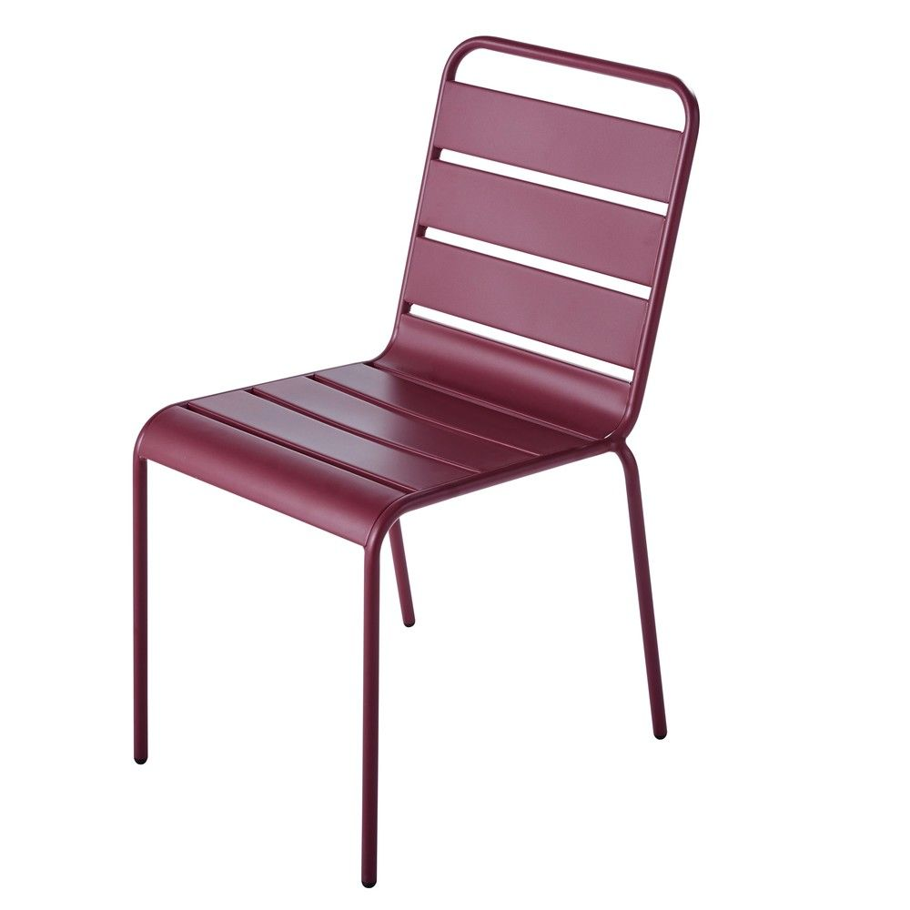 Chaise de jardin en m tal violet batignolleschaise de jardin violet 47x84x60cm maisons du - Chaise maison du monde ...