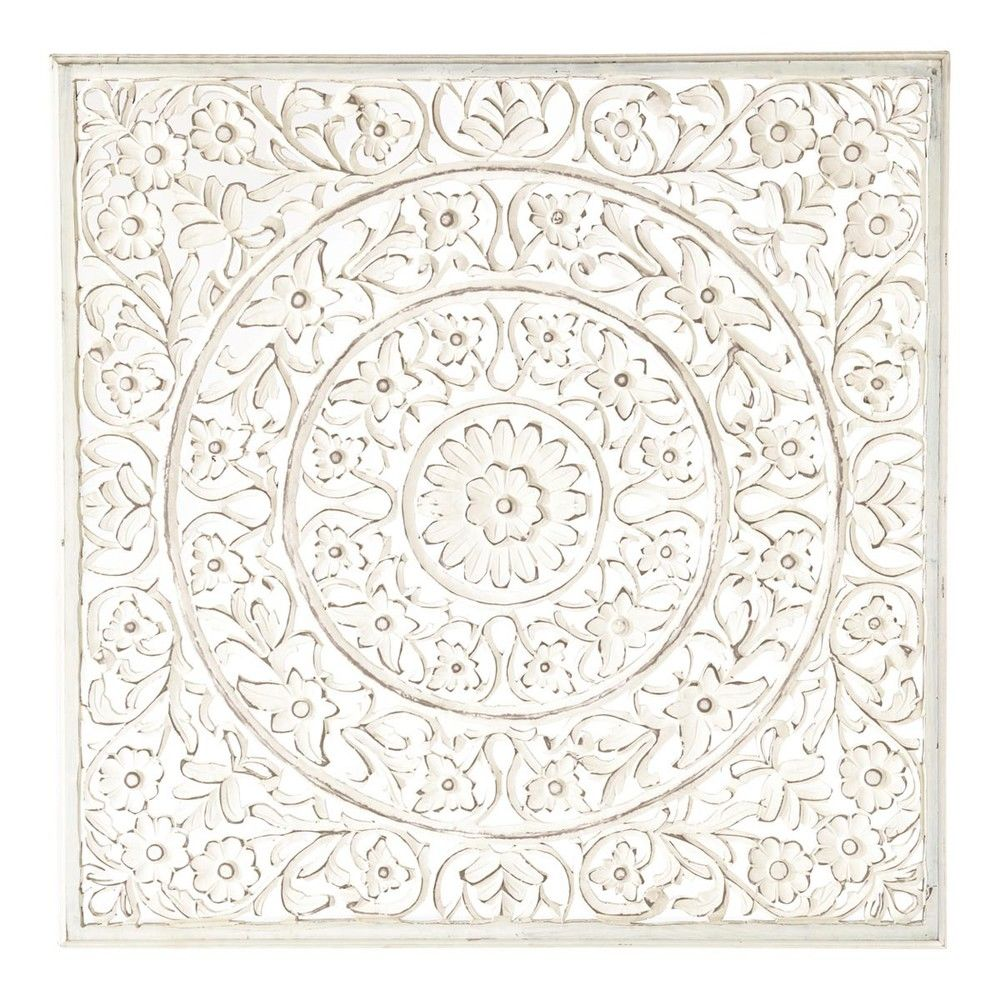 Panneau Mural Blancdecoration Murale Blanc 100x100x2cm