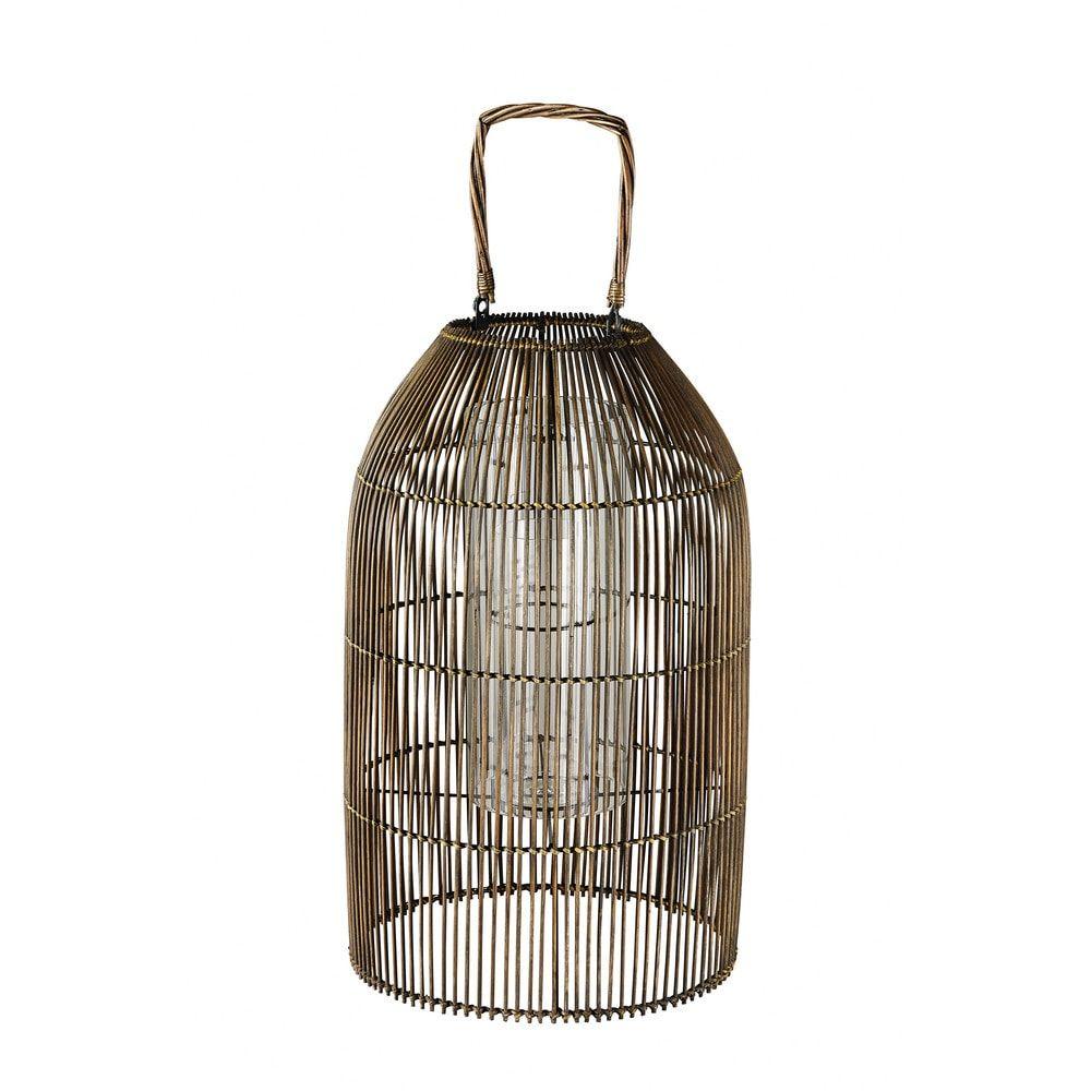 lanterne en bambou tress et verrelanterne d 39 ext rieur. Black Bedroom Furniture Sets. Home Design Ideas