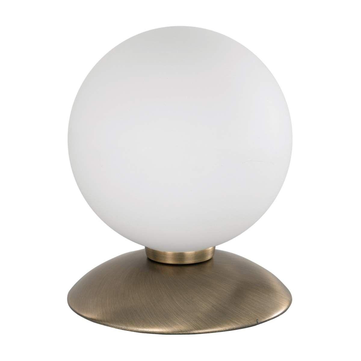 Lampe à poser BUBBA au design sobre, laiton ancienLampe à poser   Blanc   Paul Neuhaus