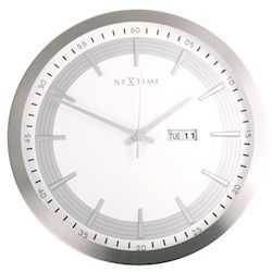 Nextime - Horloge de cuisine-Nextime-Horloge murale captain wallclock 44x5.7cm