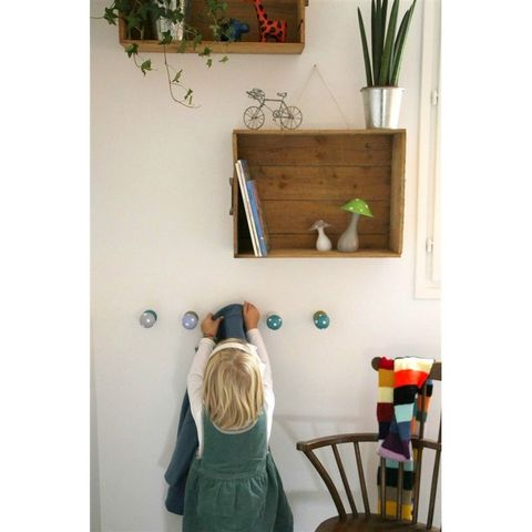 LITTLE BOHEME - Patère enfant-LITTLE BOHEME-Patère champignon - lilas et taupe