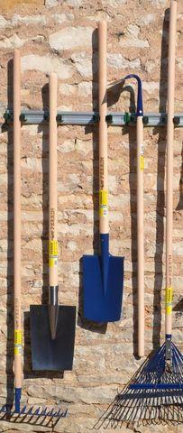 Outils Perrin - Range-outils de jardin-Outils Perrin-Porte outils mural sur rail 5 crochets 90x7,5x5,5c