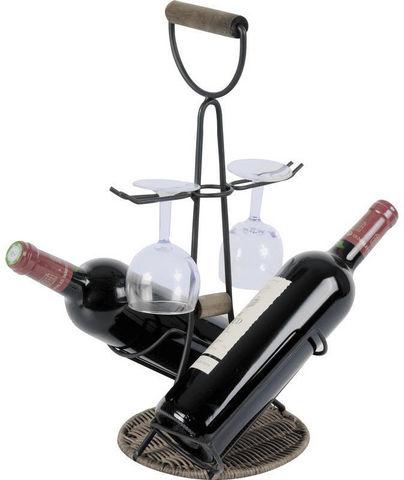 Aubry-Gaspard - Support de bouteille-Aubry-Gaspard-Porte-bouteilles Porte-verres 2 en 1