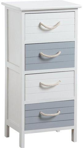 AUBRY GASPARD - Colonne de rangement simple de salle de bains-AUBRY GASPARD-Commode 4 tiroirs océan en medium 35x28x74cm