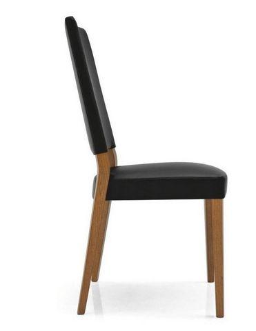 Calligaris - Chaise-Calligaris-Chaise SANDY en simili cuir noir de CALLIGARIS