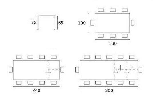 Calligaris - Table de repas rectangulaire-Calligaris-Table repas extensible SIGMA XL 180x100 en bois co
