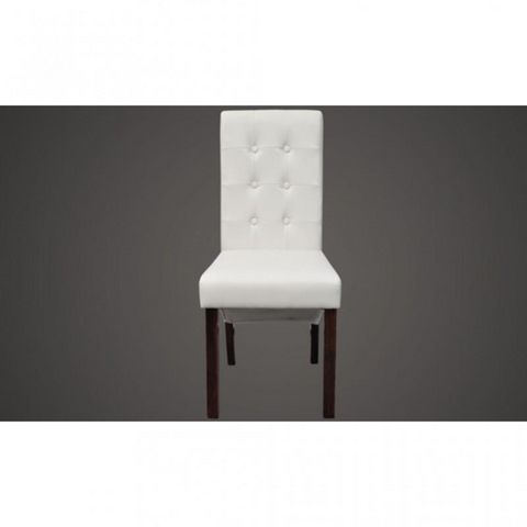 WHITE LABEL - Chaise-WHITE LABEL-Chaise de salle a manger blanches