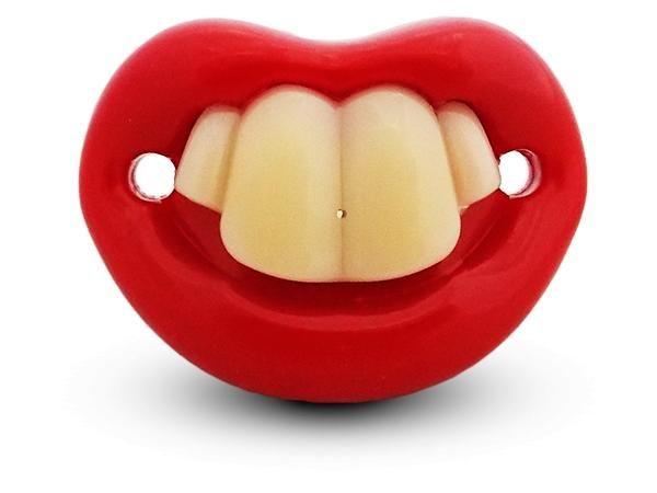 WHITE LABEL - Tétine-WHITE LABEL-Sucette et drôle tétine avec 4 dents en silicone H