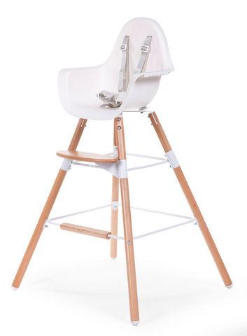WHITE LABEL - Chaise haute enfant-WHITE LABEL-Chaise évolutive 2 en 1 pour bébé coloris blanc et