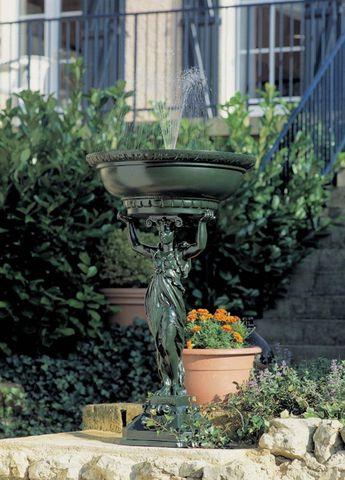 Fontes D'art De Dommartin - Fontaine centrale d'extérieur-Fontes D'art De Dommartin-Fontaine de jardin Cariatide