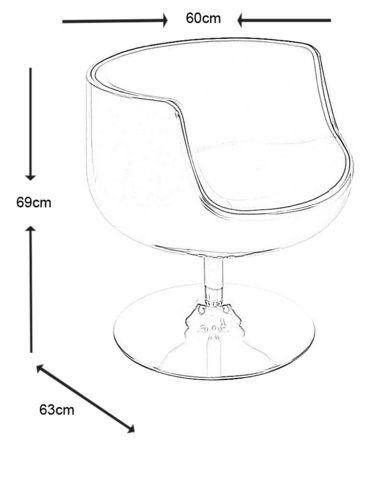 KOKOON DESIGN - Fauteuil rotatif-KOKOON DESIGN-Fauteuil design pivotant Harlow