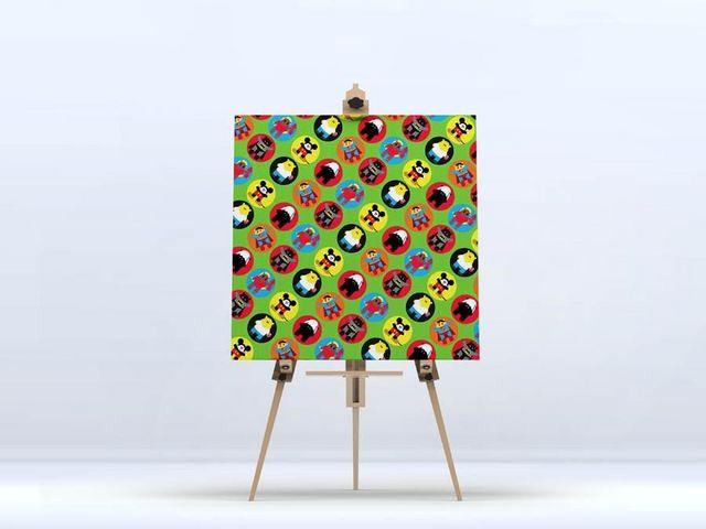 la Magie dans l'Image - Impression numérique sur toile-la Magie dans l'Image-Toile Héros Pattern Vert petit