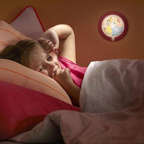 Philips - Applique Enfant-Philips-Veilleuse Princess détecteur LED D9,5 cm