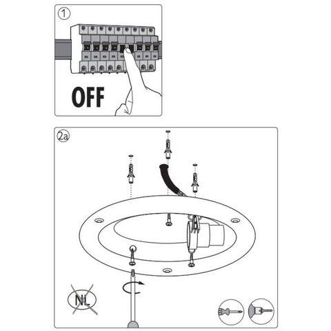 Philips - Plafonnier-Philips-Plafonnier rond salle de bain Fountain D35 cm IP21