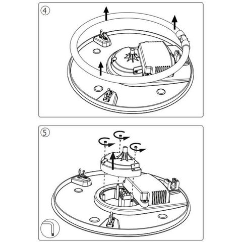 Philips - Plafonnier-Philips-Plafonnier rond salle de bain Vanna D39 cm IP44