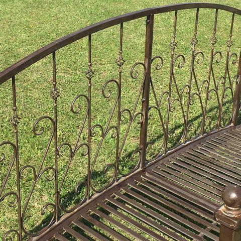 CHEMIN DE CAMPAGNE - Pont de jardin-CHEMIN DE CAMPAGNE-Grand Pont Passerelle Fer Metal de Jardin Ruisseau