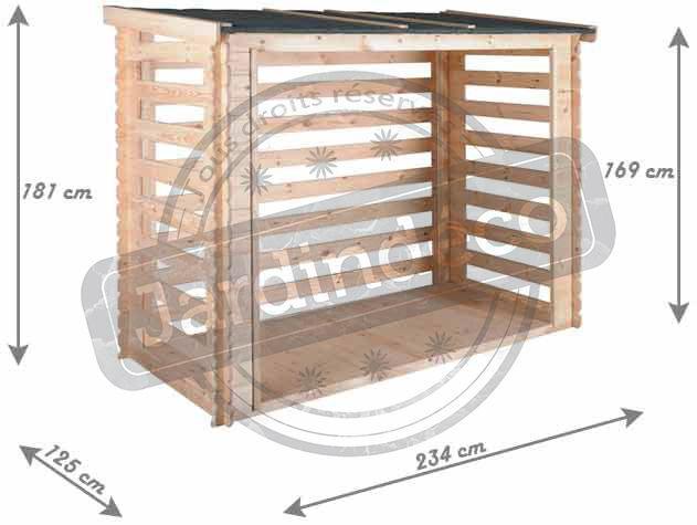 JARDIPOLYS - Abri à bûches-JARDIPOLYS-Abri bûches avec plancher 3,5 stères Come