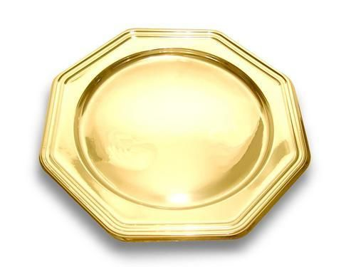 Adiserve - Vaisselle de Noël et fêtes-Adiserve-Sous-assiette octogonale Or  30 cm (par 4)