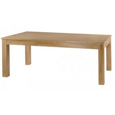 MEUBLES ZAGO - Table de repas rectangulaire-MEUBLES ZAGO-Table teck blanchi Cosmos 160 cm avec allonge