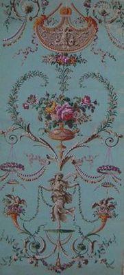 Carolle Thibaut-Pomerantz - Papier peint-Carolle Thibaut-Pomerantz-Panneau de papier peint à rinceaux