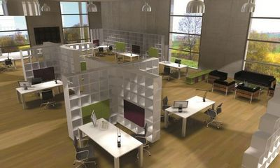 Qubing - Open space-Qubing-bibliotheques separatrices