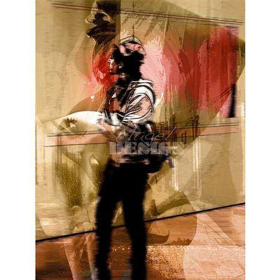 Magel'design - Tableau contemporain-Magel'design-Le rendez-vous 80x100cm , 3D effet relief
