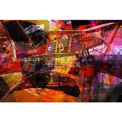 Magel'design - Tableau contemporain-Magel'design-Le Biplan 120x90 cm , 3D effet relief