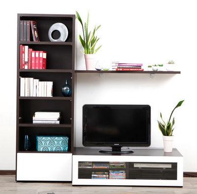 Miliboo - Meuble tv hi fi-Miliboo-SYMBIOSIS COMPO 1 STRUCTURE CHOCOLAT