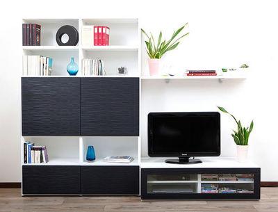 Miliboo - Meuble tv hi fi-Miliboo-SYMBIOSIS COMPO 3 STRUCTURE BLANCHE