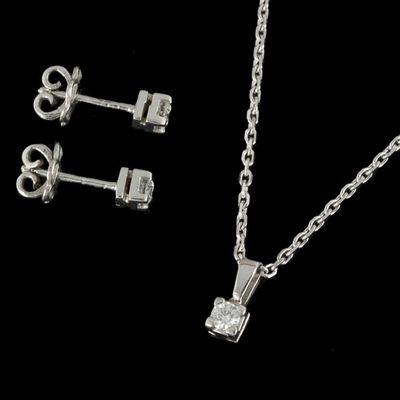 Expertissim - Parure de bijoux-Expertissim-Parure en or blanc et diamants
