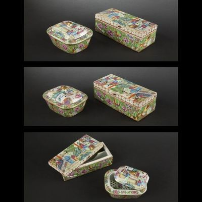 Expertissim - Sculpture-Expertissim-Deux boîtes. Canton, fin XIXe siècle