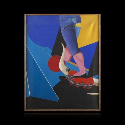 Expertissim - Tableau décoratif-Expertissim-ECOLE MODERNE. Le toréador, 1982