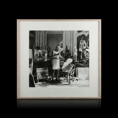 Expertissim - Photographie-Expertissim-André VILLERS - Picasso à Cannes, 1956
