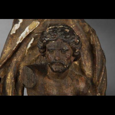 Expertissim - Sculpture-Expertissim-Sculpture en tilleul Le Baptême du Christ, fin du