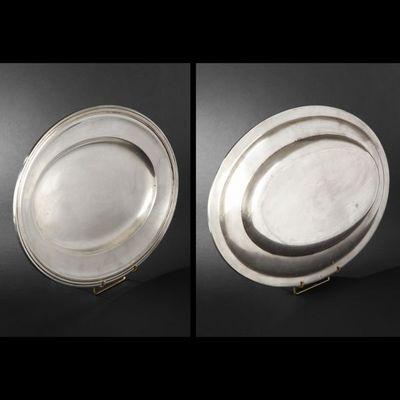 Expertissim - Assiette à pain-Expertissim-Plat et corbeille en métal argenté