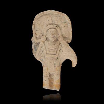 Expertissim - Objet d'art précolombien-Expertissim-Mexique, Art Maya. Statuette de grand prêtre