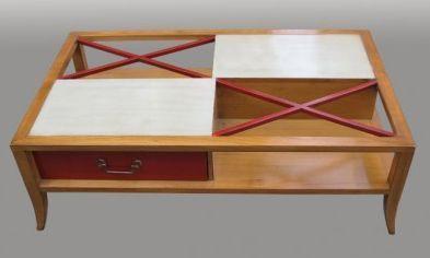 Lawrens - Table basse à tiroirs-Lawrens-Croisillons