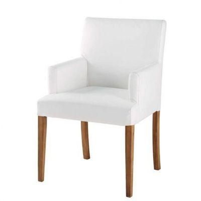 Maisons du monde - Fauteuil-Maisons du monde-Fauteuil PVC blanc Lounge