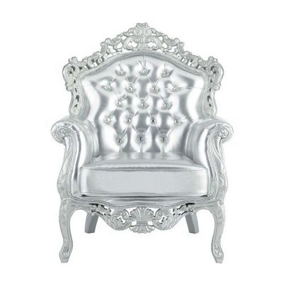 MAISONS DU MONDE - Fauteuil-MAISONS DU MONDE-Fauteuil argent Barocco