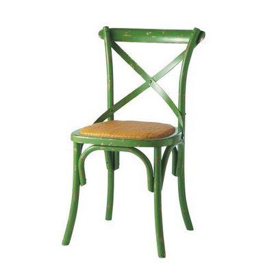 Maisons du monde - Chaise-Maisons du monde-Chaise vert anis Tradition