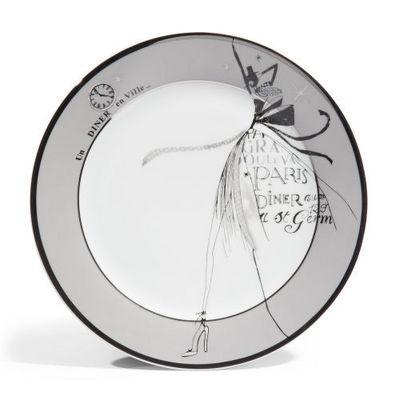 Maisons du monde - Assiette plate-Maisons du monde-Assiette plate Haute couture grise