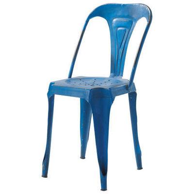 Maisons du monde - Chaise de jardin-Maisons du monde-Chaise bleue Multipl's