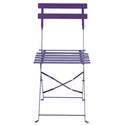 Maisons du monde - Chaise de jardin-Maisons du monde-Lot de 2 chaises violettes Confetti
