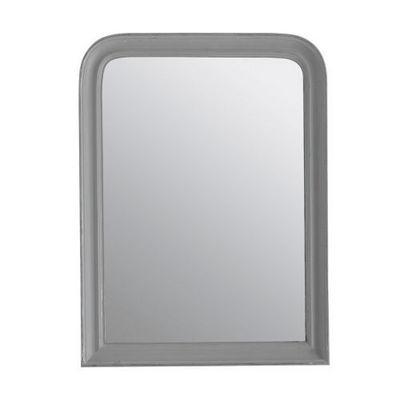 Maisons du monde - Miroir-Maisons du monde-Miroir Elianne arrondi gris 60x80